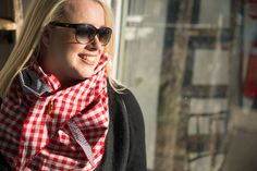Sunglasses and SUKA Scarf, just stunning. Plaid Scarf, Photo Shoot, June, Boutique, Sunglasses, Fashion, Photoshoot, Moda, Fashion Styles