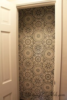 Parlor Lace Wall Stencils from Royal Design Studio - Stenciled and Painted Closet & Storage Room
