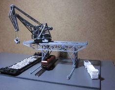 3101 – Portalkran, Spur Z, M 1 : 220 / gantry crane, scale Z - NoBa - Modelle Spur Z, Industry Models, Gantry Crane, Eden Project, Civil Engineering, Model Building, Model Trains, Scale Models, Miniatures