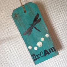 Dream Wood Tag Sign by BeingReMade on Etsy