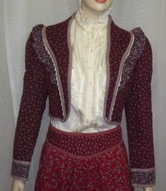 Vintage 1970's Gunne Sax Gunnies Quilted Jacket Calico BOHO Small by ShonnasVintage, $62.99