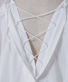 バックレースアップシャツ(TL71SH3028KK)|T.Library|シャツ・ブラウス | 伊勢丹オンラインストア