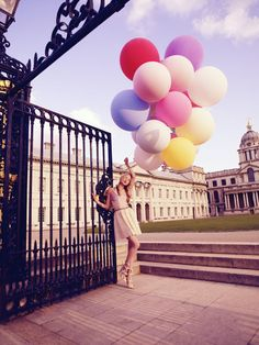 Iron gate frames the image...cool photo for Tatler.