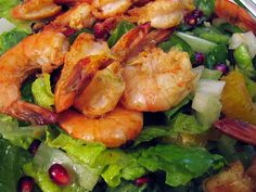 chipotle shrimp with a citrus pomegranate salad #paleo #recipe