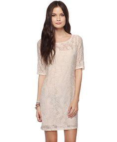 Must get! Paisley Lace Shift Dress, Forever 21 $22.80