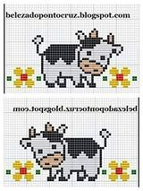 Ideas embroidery quotes baby for 2019 Cross Stitch Cow, Cross Stitch Cards, Cross Stitch Borders, Cross Stitch Animals, Cross Stitch Designs, Cross Stitching, Cross Stitch Patterns, Embroidery Hearts, Cross Stitch Embroidery