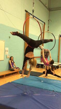 Aerial Acrobatics, Aerial Dance, Aerial Hoop, Aerial Arts, Aerial Silks, Pole Dance Moves, Pole Dancing, Dance Rooms, Dance World