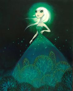 The Light and All Her Witchery    24x30 acrylic on birch    by Krista Huot http://www.kristahuot.com/