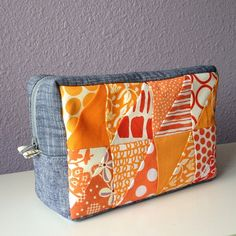 The finished pouch for my #sewingsummit secret swap partner. Pattern from Patchwork Please. | Flickr