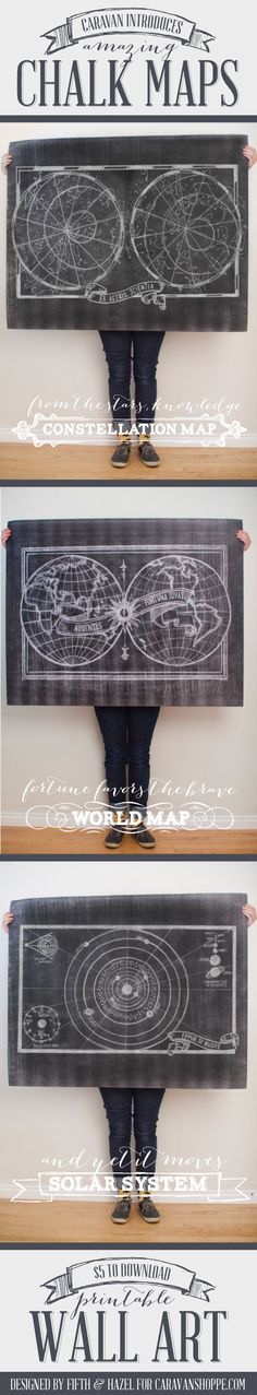 $5 Printable Chalk Maps from caravanshoppe.com - easy to download and inexpensive to print!