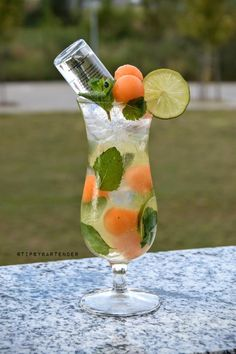 Absolut Melon Mojito - For more delicious recipes and drinks, visit us here: www.tipsybartender.com