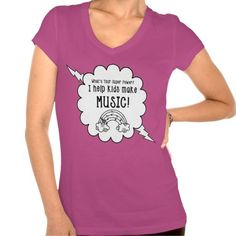 """Music Teachers T-Shirt """"What's Your Super Power?""""   Zazzle"""