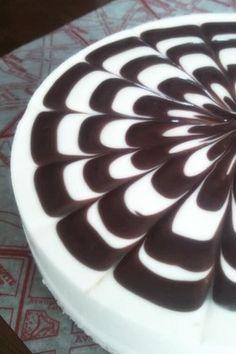 チョコレートマーブルレアチーズケーキ