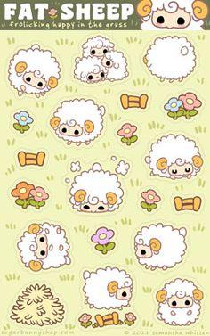 Fat Sheep Sticker Sheet by celesse on deviantART