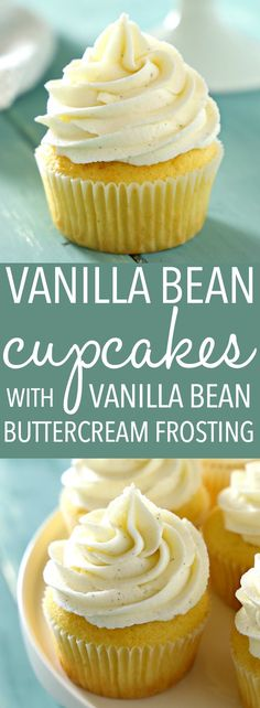 These Vanilla Bean Cupcakes are tender and fluffy and topped with ultra creamy mascarpone buttercream frosting made with real vanilla beans! They're perfect for parties, birthdays, or any occasion at all! Recipe from thebusybaker.ca! #bestevervanillacupcakes #easyvanillacupcakes #vanillabeancupcakerecipe via @busybakerblog