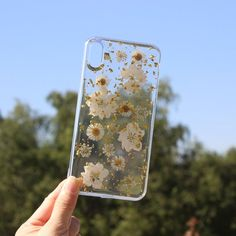 Pressed real dried flower phone case,iphone x 6 7 8 Plus X Xr Xs 11 Pro Max case,Samsung galaxy ultra note 9 10 plus case Girly Phone Cases, Pretty Iphone Cases, Diy Phone Case, Unique Iphone Cases, Clear Phone Cases, Galaxy Phone Cases, Diy Case, Case Iphone 6s, Samsung Cases