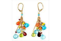 Bohemian Gemstone Briolette Earrings