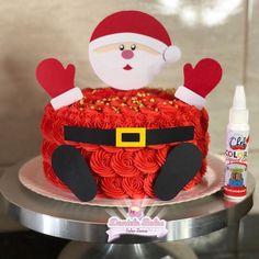ideas cake christmas santa fondant for 2019 Christmas Birthday Cake, Christmas Snacks, Christmas Goodies, Christmas Baking, Kahlua Cake, Christmas Cake Decorations, Holiday Cakes, Best Cake Mix, Sprinkles