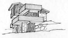 simple architectural drawings. perfect simple ten jest mocno bylejaki i zapewne w maym rozmiarze ale trzyma podstawy  geometrii perspektywy on simple architectural drawings