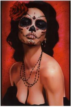 Looking for for inspiration for your Halloween make-up? Browse around this site for unique Halloween makeup looks. Clown Halloween, Unique Halloween Makeup, Halloween Makeup Sugar Skull, Halloween Makeup Looks, Halloween Make Up, Halloween Costumes, Vintage Halloween, Sugar Skull Costume, Halloween Inspo