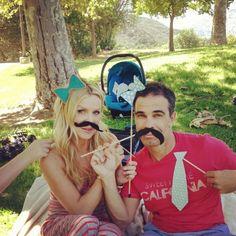 4th of July Weekend babyshower!  #babyshower #mustache #fun #love #adventures #photobooth