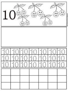 Φύλλα εργασίας γραφής για τους αριθμούς 1 έως 10 | Δραστηριότητες, παιδαγωγικό και εποπτικό υλικό για το Νηπιαγωγείο | Bloglovin' Math Activities, Math Equations, Words, Alphabet, Letters, Horse