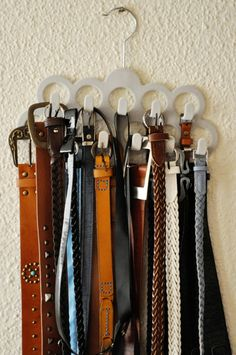 Belt storage - and you can buy it from Woolworths!