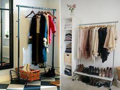 Araras, prateleiras e armários abertos para substituir o guarda-roupa - Casa - GNT