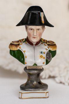 Vintage Handpainted Napoleon Bust Figurine