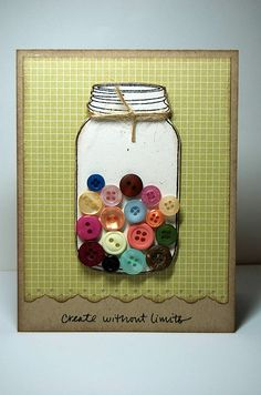 Lots of ideas for using buttons in making cards.