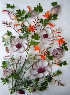 Virágos képmontázsok zöldségekből és fűszerekből... az ember nem is gondolná, hogy a szokványos zöldségekből milyen... - MindenegybenBlog
