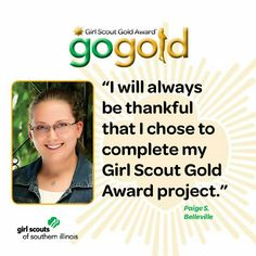 Paige S. from Belleville earned the Girl Scout Gold Award for teaching others about the importance of CPR and AED skills.