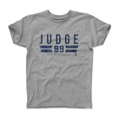 Aaron Judge Font B New York Y Officially Licensed Toddler and Youth T-Shirts 2-12 Years