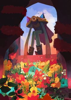 Son of the evil flowers via Caro Waro's treasure cave. Click on the image to see more!