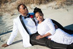 #happilymarried #pictureperfect #boardwalk #husbandandwife #kiss #marriedlife #myrtlebeach #traindepotwedding