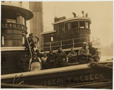 "Image ca. 1919-1930 of the tugboat, ""Joseph F. Meseck"" (Hoboken Historical Museum)"