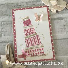 Cake Crazy mit Schmetterlingen in Zarter Pflaume und Saharasand