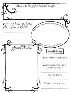 guest book printables