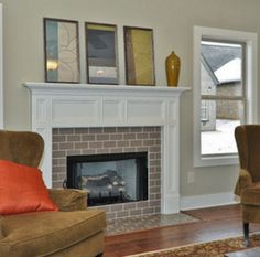 clear glass tile surround? Traditional Living tile fireplace ...