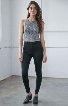 Bullhead Denim Co. Night Sky Black Super High Rise Skinny Jeans