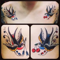 swallow~! ( ˘ ³˘)♥ ゚+。:.゚ #tattoo #reikotattoo