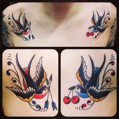 swallow~! ( ˘ ³˘)♥ ゚+。:.゚ #tattoo #reikotattoo