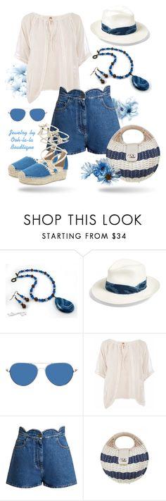 """""""Denim Shorts Summer - Jewelry by Ooh-la-la Beadtique"""" by ooh-la-la-beadtique ❤ liked on Polyvore featuring rag & bone, Conquista, Valentino and Nanette Lepore"""