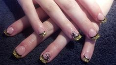 Golden Prom nails