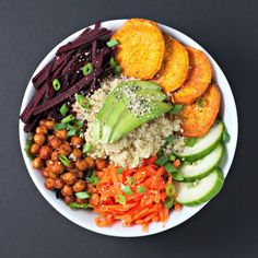 The Balance Bowl ~vegan, gluten free~ A simple solution to creating a healthy and balanced meal! | Save and organise recipes from anywhere on your iPhone or iPad with @RecipeTin – without typing them in! Find out more here: www.recipetinapp.com #recipes #vegan #salads