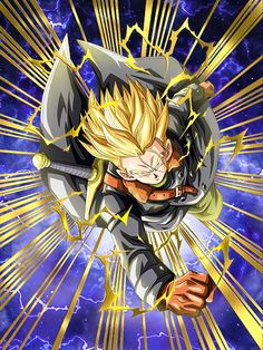"""[A Critical Mission] Super Saiyan Trunks (Xeno) """"I will never let you succeed! Xeno Trunks, Trunks Dbz, Akira, Dragon Ball Z, Ssj3, Dbz Characters, Z Arts, Son Goku, Cool Posters"""