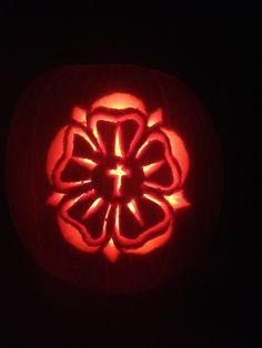 My Luther Rose Pumpkin Halloween Pumpkins, Fall Halloween, Halloween Ideas, Martin Luther Reformation, Luther Rose, Reformation Day, Then Sings My Soul, All Saints Day, Hello Autumn