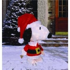 "26"" Peanuts Tinsel Snoopy Animated Pre-Lit Christmas Holiday Yard Art by Peanuts. $68.99"