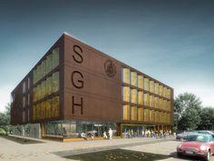 Projekt budynku dydaktycznego dla S.G.H. przu ul. Batorego 8 w Warszawie   K. S. ARCHITEKCI   Kinga Brix-Grobelna • Seweryn Grobelny Multi Story Building, Prague