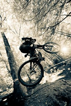 "♂ Outdoor adventure mountain bike ""Jump to the sun"" by Tom Vander Heyden"